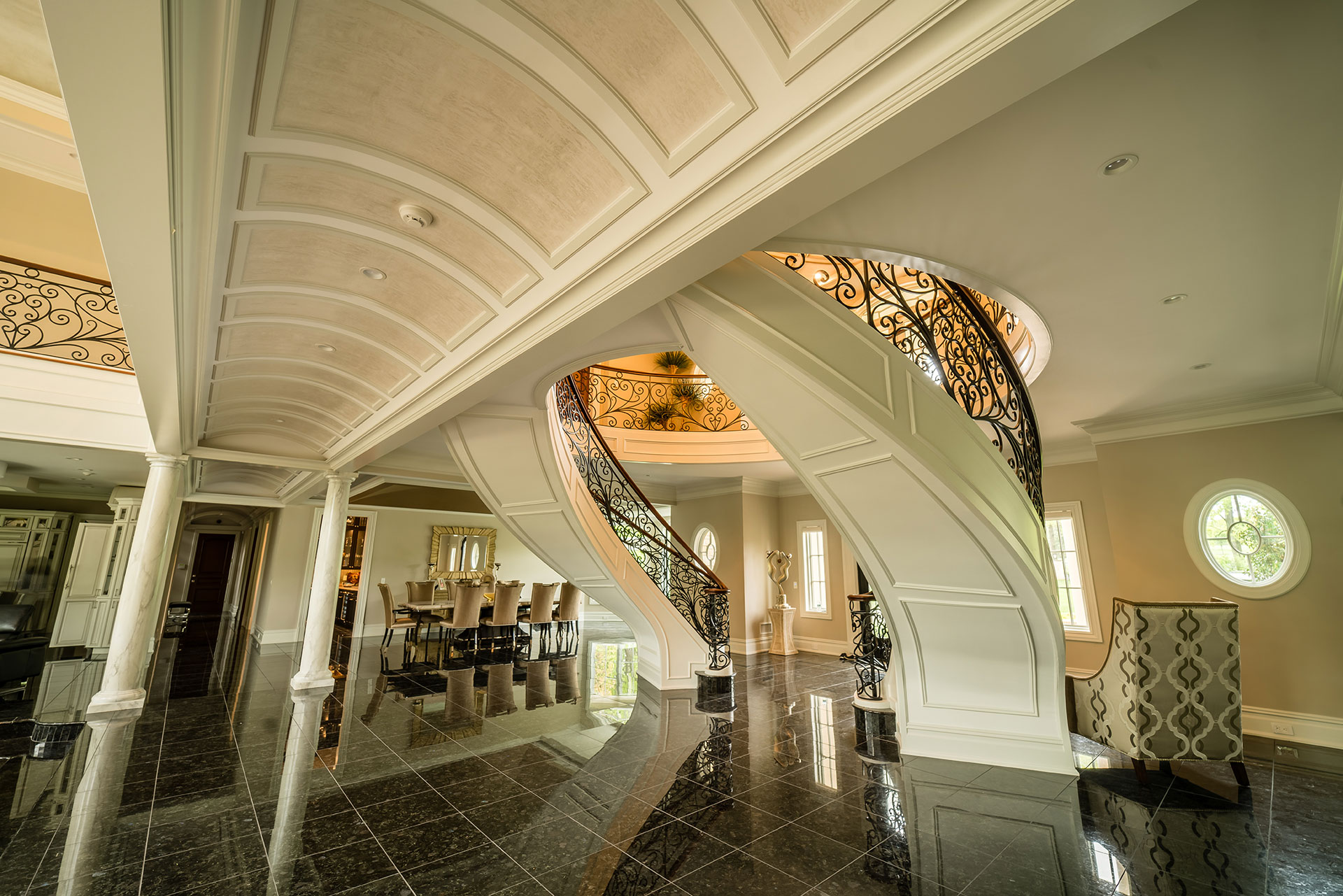 Beautiful mansion hallway