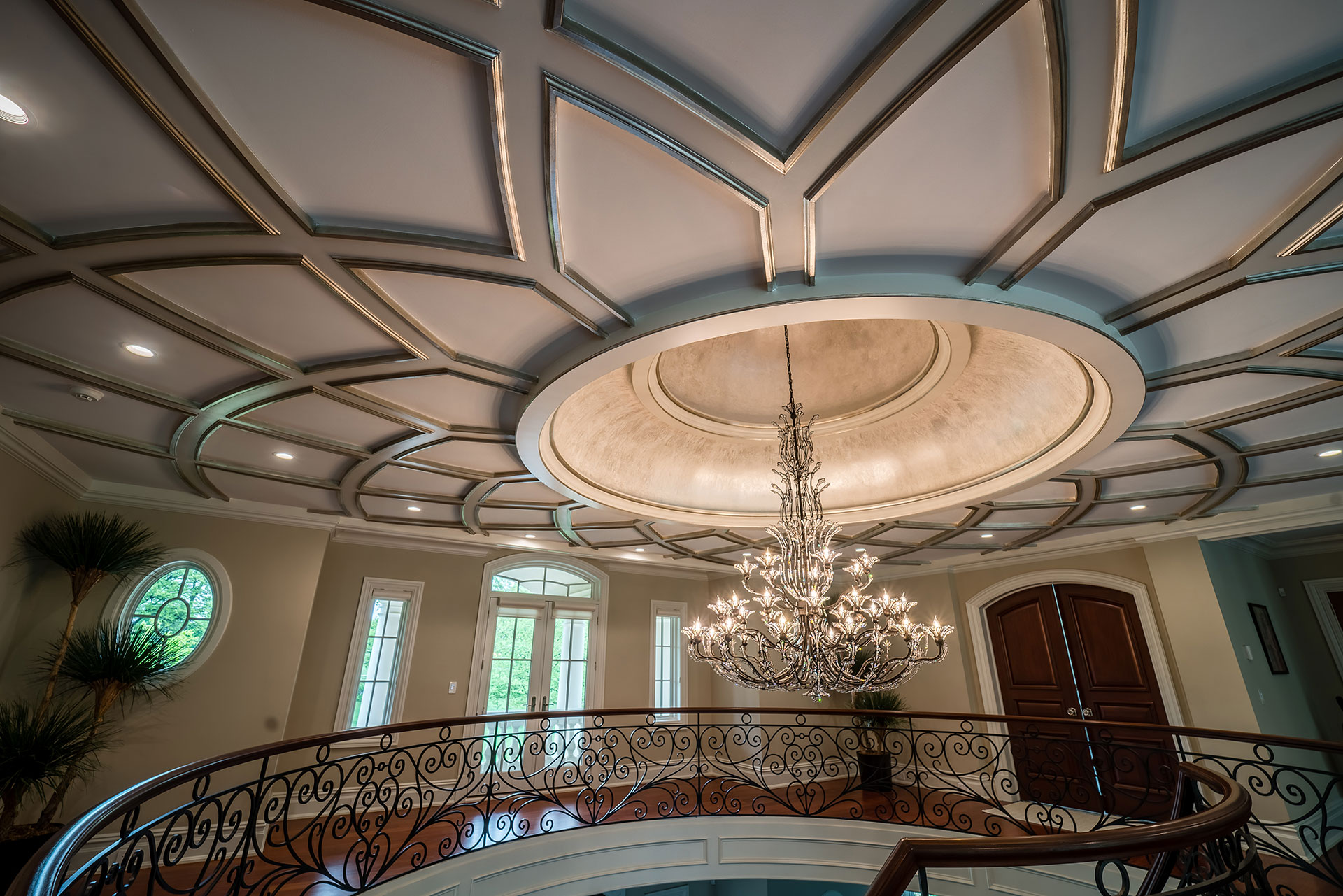 Upscale painted chandelier